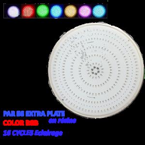 PAR 56 Extra plate RGB  en résine