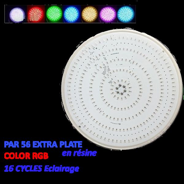 PAR 56 Extra plate résine RGB